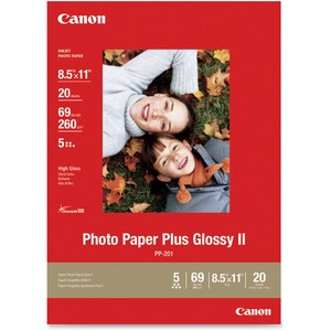 20-Sheets 8.5x11in Glossy Ii Photo Paper