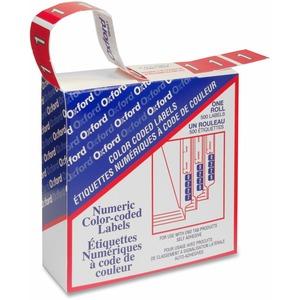 Pendaflex® Numeric Labels #1 Red 500/box
