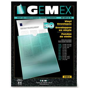 "Gemex Heavy Duty Vinyl Pocket 8-1/2x11"""