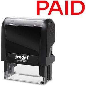 Trodat® Printy 4911 Self-Inking Message Stamp PAID