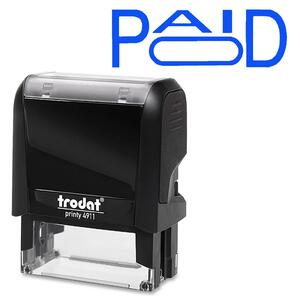 Trodat® Printy 4911 Self-Inking Message Stamp with Window PAID