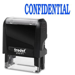 Trodat® Printy 4911 Self-Inking Message Stamp CONFIDENTIAL