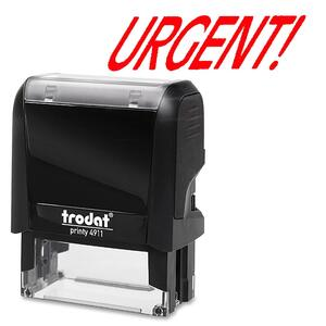 Trodat® Printy 4911 Self-Inking Message Stamp URGENT!
