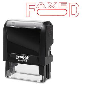 Trodat® Printy 4911 Self-Inking Message Stamp with Window FAXED