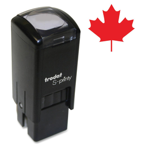 Trodat® S-Printy 4921 Self-Inking Mini Stamp Red Maple Leaf