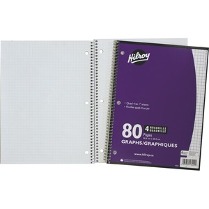 "Hilroy Graph Notebook 10-1/2x8"" 80pgs"