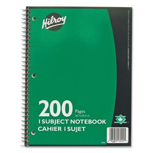 Notebook 1-Subject 10.5x8 Ast 200pg