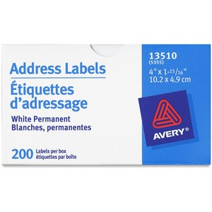 "Avery® Roll-Form Address Labels 4"" x 1-15/16"" White 200/box"