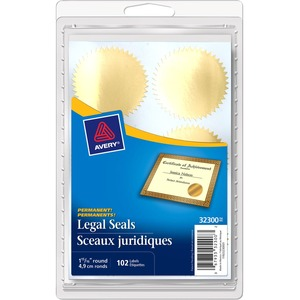 Avery® Legal Seals Gold 102/pkg