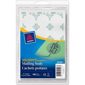 Label Mailing Seals Clear 195/pk