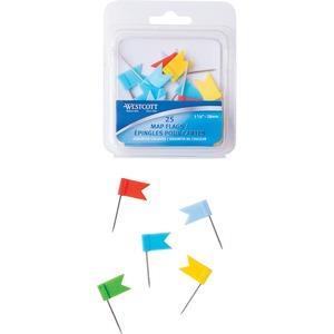 Westcott® Map Flags 25/pkg