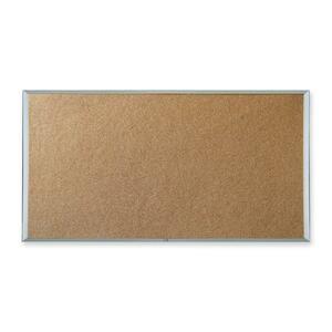 "Quartet® Economy Cork Board Aluminum Frame 48"" x 72"""