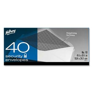 Hilroy Security Envelopes #10 40/box