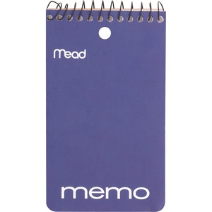 "Mead® Memo Book Open End Coil Bound 3"" x 5"" 60 pages"