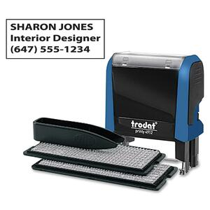 Trodat® Typo Printy Self-Inking Custom Printing Set 4-Line