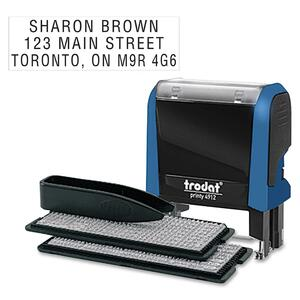 Trodat® Typo Printy Self-Inking Custom Printing Set 3-Line