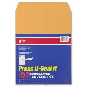 """Hilroy Press it-Seal it® Kraft Envelopes 10"""" x 13"""" 20/pkg"""