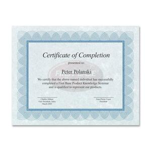 St. James® Regent Certificates Blue & Silver w/Seal 25/pkg
