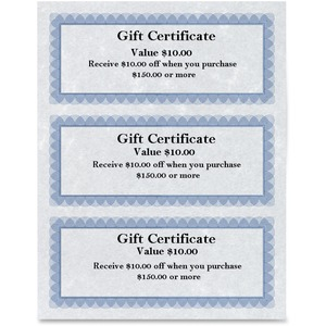 St. James® Regent Gift Certificates Blue & Silver 75/pkg