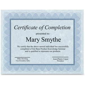 St. James® Regent Certificates Blue & Silver 100/pkg