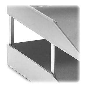 Trays Stacking Supports Slvr 4/set