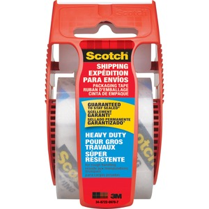 Scotch® Heavy Duty Shipping Tape with Dispenser 48 mm x 50 m Clear