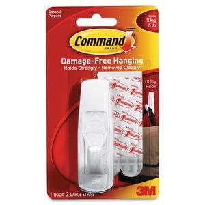 Command™ Adhesive Large Mounting Hook White