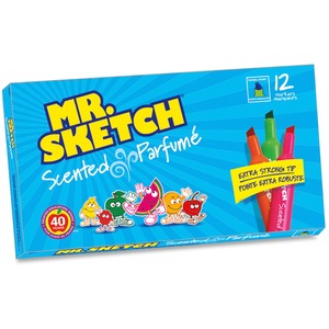 Mr. Sketch® Scented Colouring Markers Assorted Colours 12/pkg