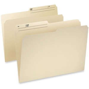 Pendaflex® CutLess® WaterShed® Reversible File Folders 1/2 Cut Letter 100/box