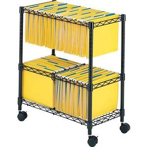 """Safco® Two Tier Rolling Filing Cart 25-3/4""""W x 13-7/8""""D x 29-3/4""""H Black"""