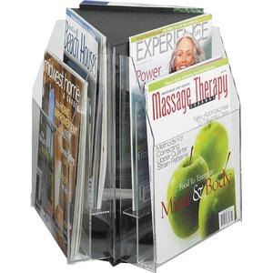 Safco® Reveal Triangular Tabletop Diplay 6-Pockets Magazine