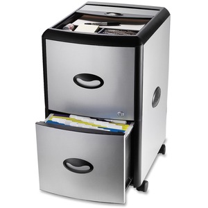 Storex® Deluxe Filing Centre with Roll Top Compartment