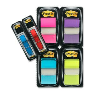 "Post-it® Flags Value Pack with 48 Bonus 1"" 50 flags per dispenser Assorted Colours 4 dispensers/pkg"