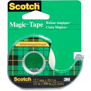 "Scotch® Magic Invisible Tape Dispenser 1/2"" (12.7 mm x 32.9 m)"