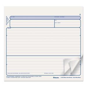 """Blueline® Inter-Office Memo Carbonless 3-part 8-1/2x8"""" Bilingual 250/pkg"""
