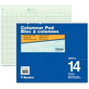 "Blueline® A5300 Columnar Pad 16-1/2x14"" 14 Column"