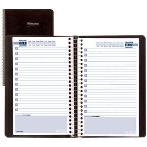 Blueline Daily Perpetual Date Book, 8' x 5', Bilingual