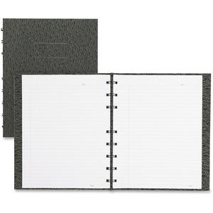 "Blueline® NotePro Notebook Ostrich 9-1/4x7-1/4"" Ruled 192pgs Black"