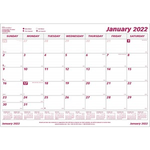 "Brownline® Monthly Desk/Wall Calendar Pad Refill 23-1/2x18-1/4"" English"