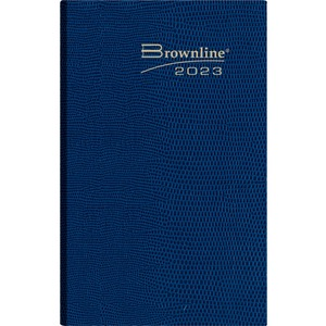 "Brownline® Traditional Diary Daily Pocket 4-3/4"" x 3"" English Assorted Colours"