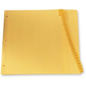 "Oxford Printed Tab Index Dividers 1-25 11"" x 8-1/2"" Buff"
