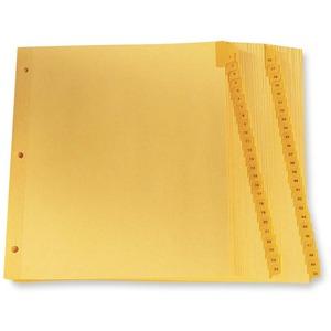 "Oxford Printed Tab Index Dividers 1-50 11"" x 8-1/2"" Buff"