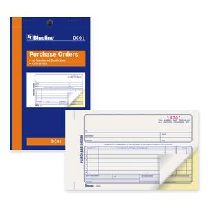 "Blueline® Carbonless Purchase Orders 2-part 4-1/4x7"" English"
