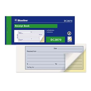 Blueline® Receipt Book Carbonless 50 sets