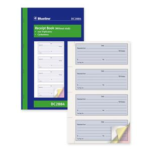 Blueline® Receipt Book Carbonless 3-part 100 sets English