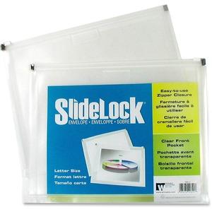 "Winnable SlideLock® Poly Zipper Envelopes 13"" x 10"" Clear"