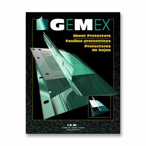 Gemex Side Load Sheet Protectors 2.4mil Clear Letter 50/box