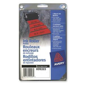 Avery 1 Line Price Gun Ink Roller Refill 5/pkg