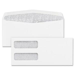 Blueline® White Double Window Envelopes #9 100/box