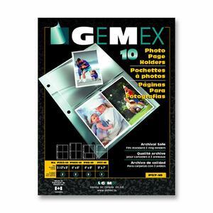 "Gemex Photo Page Holders 5x7"" 10/pkg"